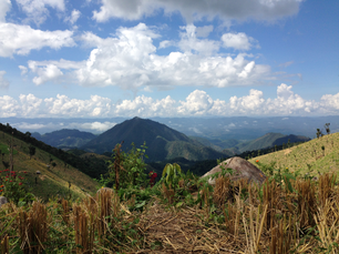 Mountain landscape in the hills of Northern Thailand