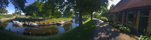 Panorama from the canal and wall in Vollenhove The Netherlands