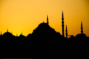 Istanbul, sunset on the Mosque.