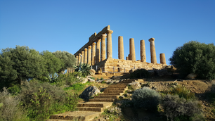 Stairs to the Temple of Juno a 5th-century BCE Greek temple in Agrigento, Italy