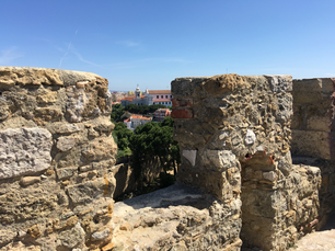 View from the Castelo de S. Jorge in Lisbon Portugal