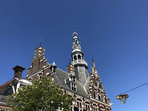The city hall of Franeker in Friesland The Netherlands