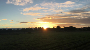 Sunrise at farmland in Angat, Bulacan, Philippines