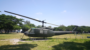 Helicopter on former US air base in Clark, Philippines