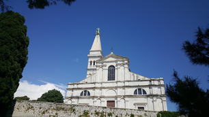 Church of St. Euphemia at sunny day in Rovinj, Croatia