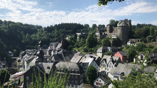 Pan from the town Monschau, Germany