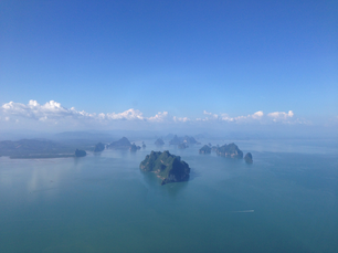 Aerial view from islands in Thailand