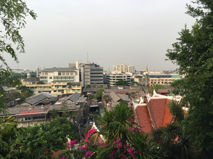 View from the stairs at Golden Mount in Bangkok Thailand
