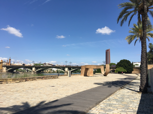 Puente de Isabel II Bridge over the Canal de Alfonso XIII in Seville Spain