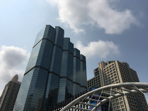 Skyscrapers in Sathon district in central Bangkok, Thailand