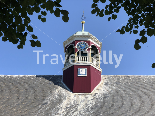 Close up from the domed church in Witmarsum, Friesland The Netherlands