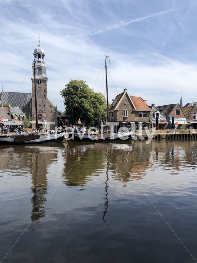 Tower of the reformed Church in lemmer Friesland The Netherlands