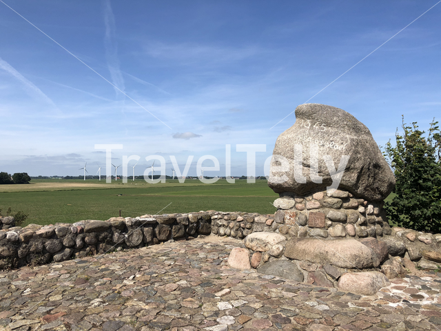 The monument of the battle of Warns in Friesland The Netherlands