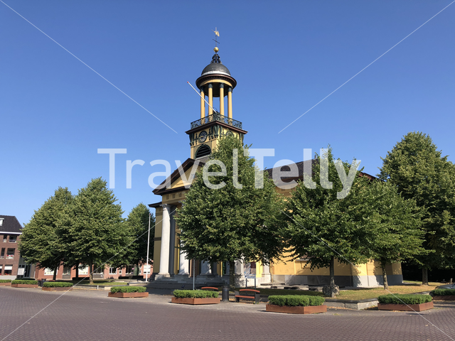 The big church in Sint Jacobiparochie, Friesland The Netherlands
