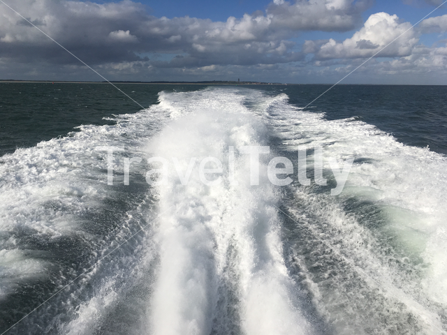 Leaving Terschelling with a speedboat on the Wadden Sea